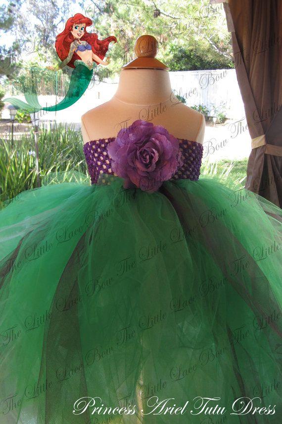 Princess Ariel Tutu Dress on Etsy, $35.00