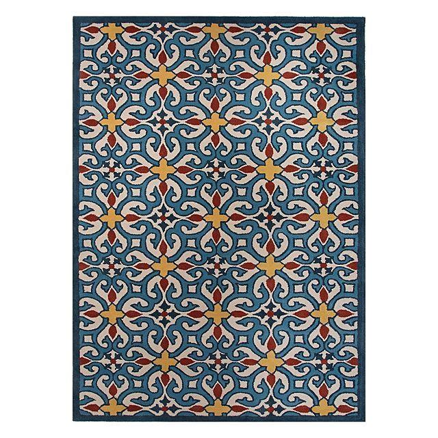 Veeraa Valiente Hand Tufted Wool Rug, Blue