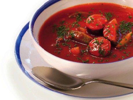 Soppa på lammkorv och squash