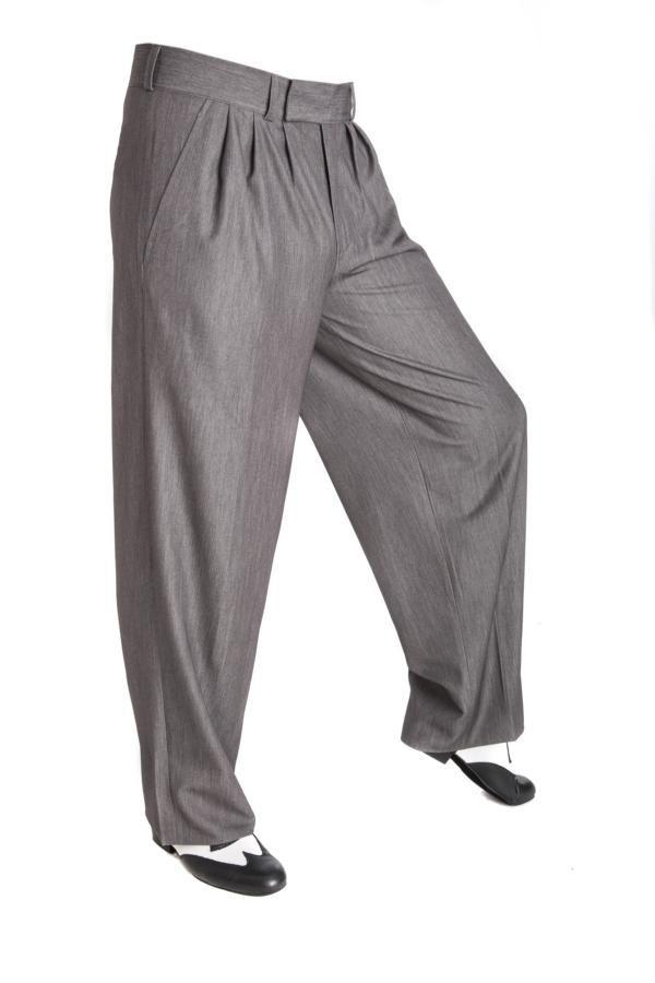 Tango, Boogie Woogie, Swing Hosen in grau! Trousers for men!