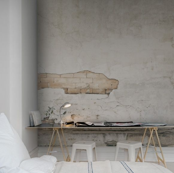 Workspace in the bedroom.