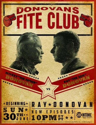 Fight Club☆Ray Donovan☆Showtime .. My fav show plus boxing! What more do I need?