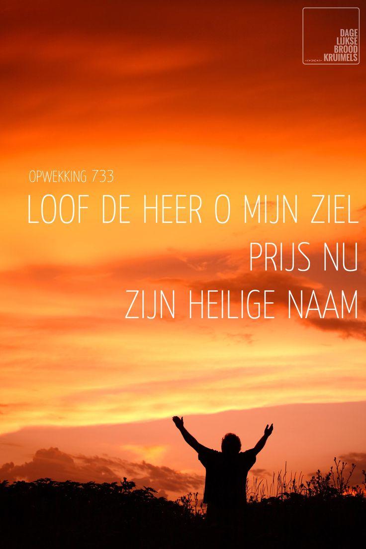 Loof de Heer o mijn ziel – Opwekking 733   http://www.dagelijksebroodkruimels.nl/quotes-christelijke-muziek/opwekking-733/