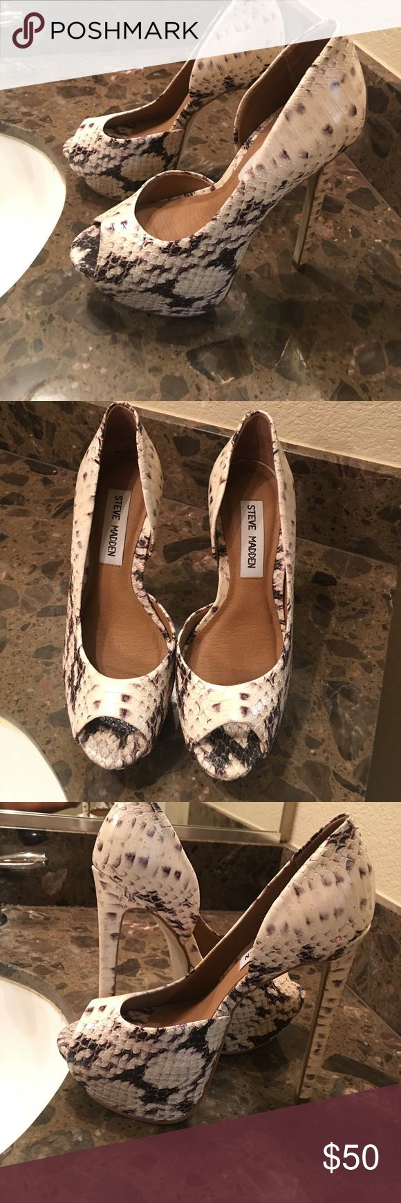 Steve Madden shoes Gently used, size 5.5, black and white. Steve Madden Shoes Heels