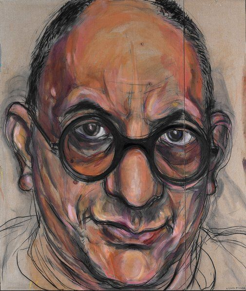 Winner: Archibald Prize 1998 Lewis Miller  Title     Portrait of Allan Mitelman no 3 Medium     oil and charcoal on canvas