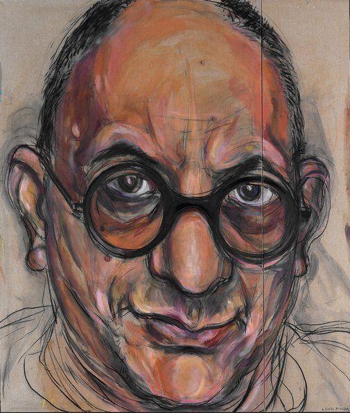 Winner: Archibald Prize 1998 Lewis Miller  Title     Portrait of Allan Mitelman no 3 Medium     oil and charcoal on canvas