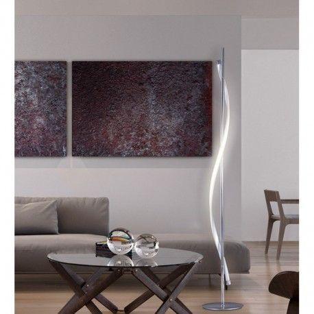 #Pie de Salón #LED #Regulable Serie Stefany en cromo, cobre rosado o cuero.