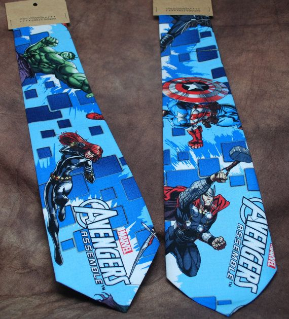 Avengers Assemble neck tie by AbandonedWarehouse on Etsy