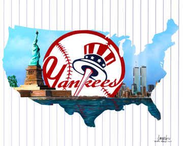 Yankee Nation New York Yankees Baseball PlayersPoster Print