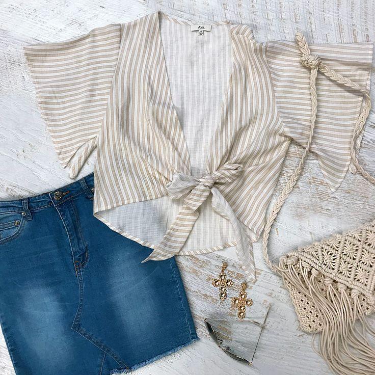 Get ready for compliments in this go-to summer outfit   shop Amalfi denim skirt + Honey crop >> https://www.urbansport.com.au/bottoms/585-amalfi-blue-denim-mini-skirt-with-frayed-hem.html   #urbansport #fashion #denim #skirt #denimskirt #bluedenimskirt #croptop #summerfashion #earrings #sunglasses #boho