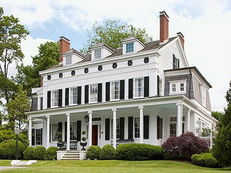 129 best Classic White Houses w Black Shutters images on