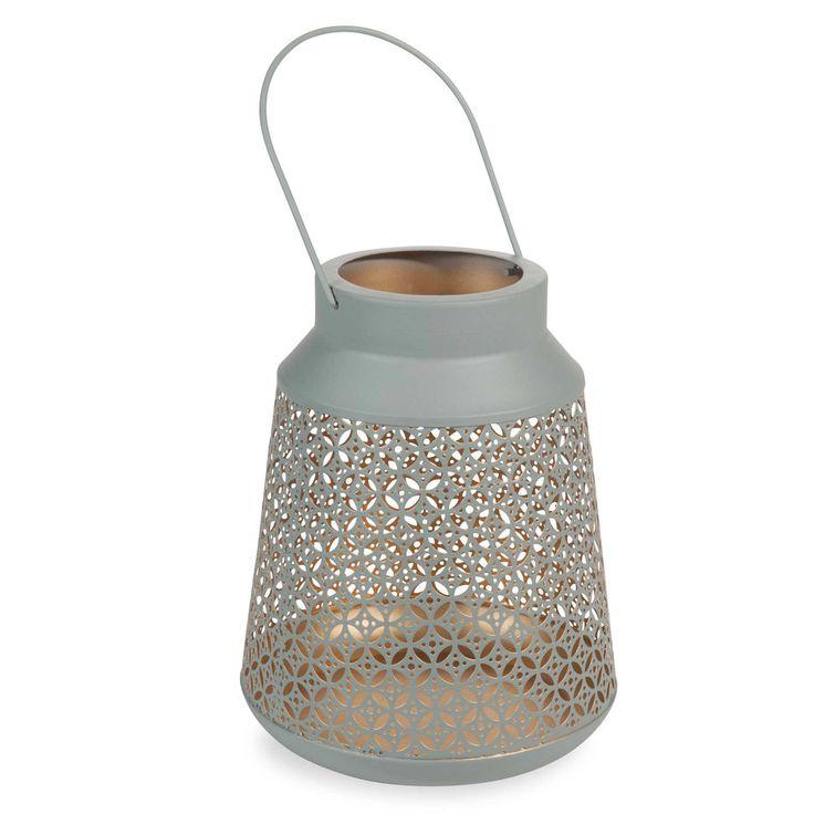 Lanterne en métal doré H 24 cm VERDOGRIGIO