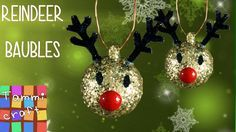 In this video we'll show you how to make a reindeer bauble for your Christmas tree. You'll need: ping pong ball bead pipe cleaner glitter mod podge brush wir...