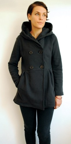 big fleece coat. great squishy weekend wear.