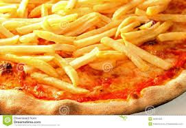 frenchfries on pizza yum