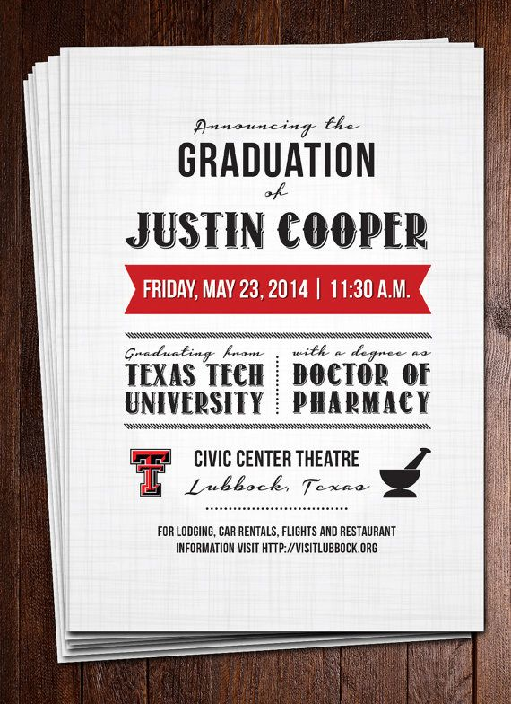 59 best pharmacy graduation images on pinterest graduation ideas male graduation announcement by casilongdesign on etsy filmwisefo