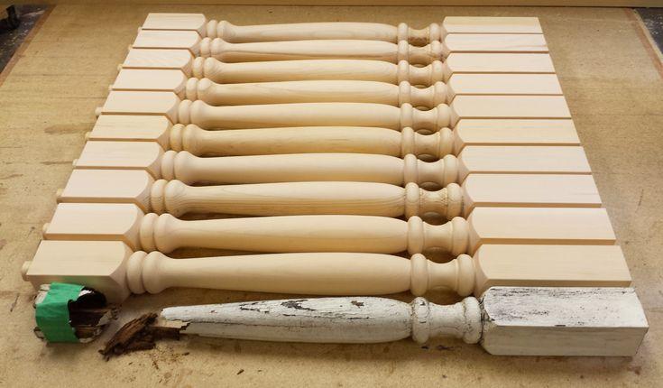 Broken spindles? We can make new ones. Wood spindle duplication.