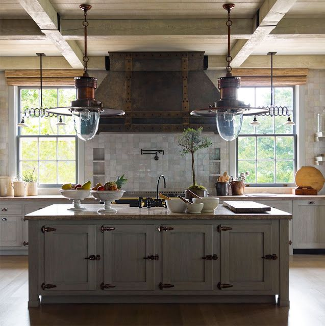 Rustic Kitchen. I LOVE THIS!! The Vent Hood Cover And
