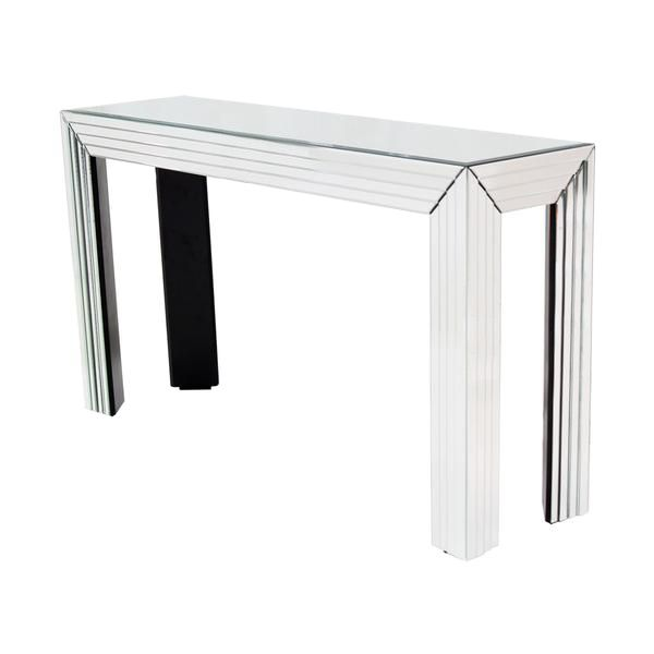 Lovely Infuse Your Home With Versatile Grandeur Embodied By The Dex Mirrored Console  Table. Add A Contemporary Dimension To Your Home Through Slanted Glass Edge  ... Idea