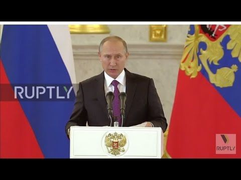 Russia: Putin says Russia 'ready and willing' to restore full relations ...