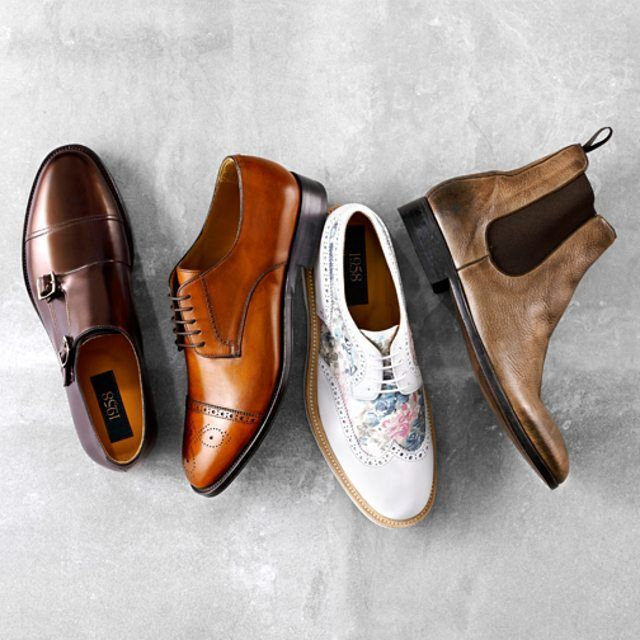 #AquilaStyle: Four SS15 additions to our 1958 collection – 58143 Bronze, 58142 Tan, 58147 Floral, 58141 Taupe.  Washed deer skin, hand made brogues, metallic finished leather monks - it's the componentry features of each shoe that make this collection special. And they're all made in Toscana, Italy.  Which do you prefer?  #Brogue #Monk #ChelseaBoot #MensShoes #Dapper#ItalianShoes #Footwear
