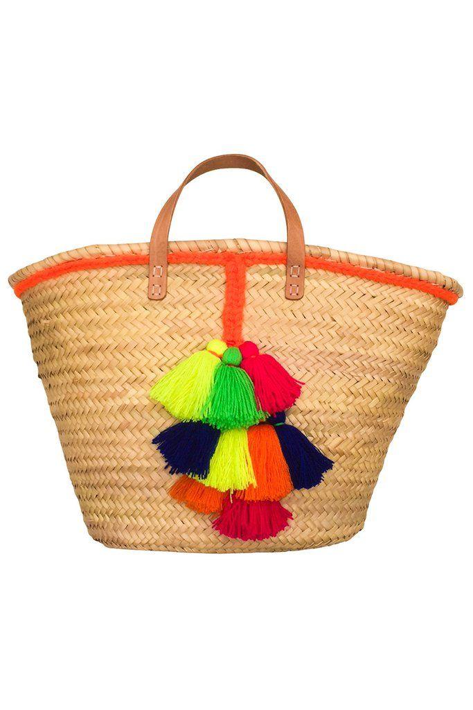 Tassel Beach Basket