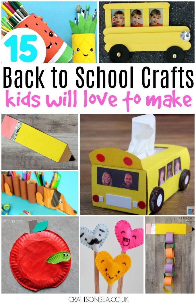 These back to school crafts are so much fun your kids will want to craft all summer! Easy DIY ideas including keepsakes, pencil toppers, apples and busses.