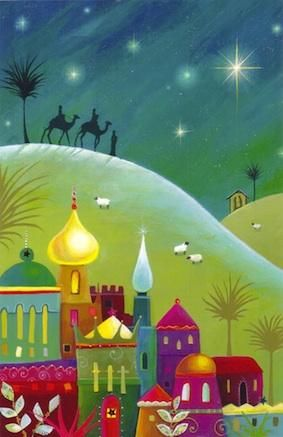 bethlehem in first christmas card | Charity Christmas Cards