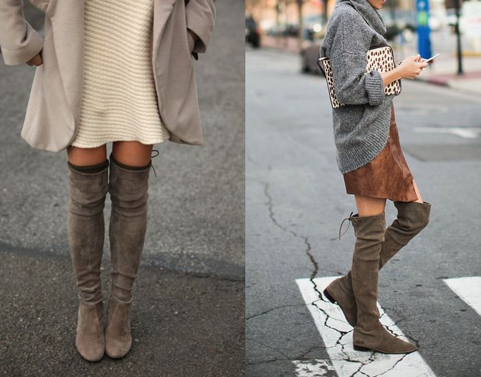 I'm LOVING the over-the-knee boot trend for fall …