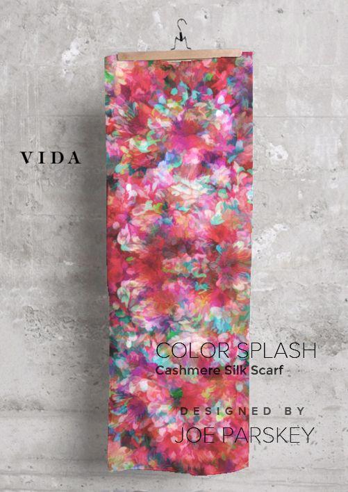 Cashmere Silk Scarf - Colors Splash by VIDA VIDA AJ09K