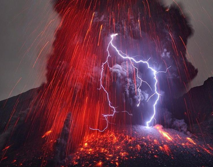 Best Erupting Volcano Ideas On Pinterest Volcano Wallpaper - 17 incredible photos of volcanic lightning