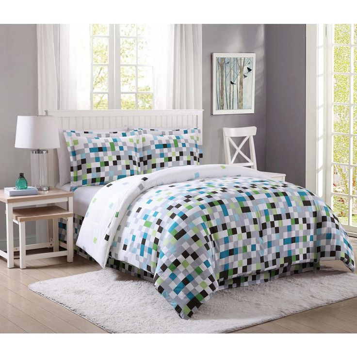 17 best ideas about green and gray on pinterest gray green bedrooms green palette and green - Green pixel bedding ...