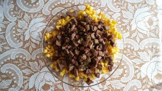 Albanian style Fried diced liver ( arnavut ciğeri )