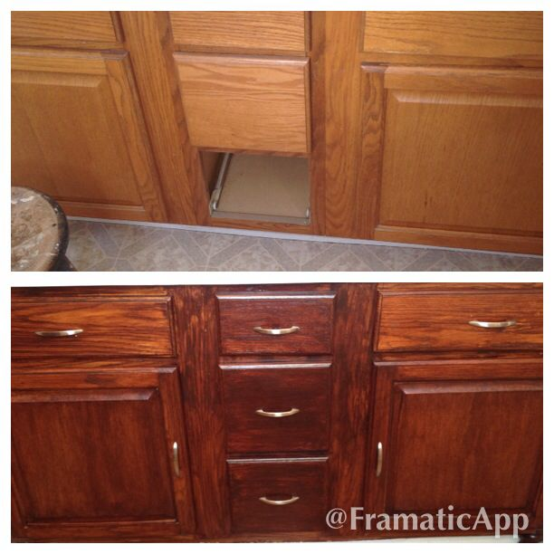 Restain Oak Kitchen Cabinets: 1000+ Images About Stained Cabinets On Pinterest