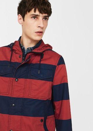 Cotton-blend hooded raincoat -  Men | MANGO Man USA