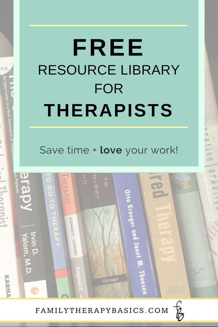 Get Access To The Free Resource Library For Therapists,