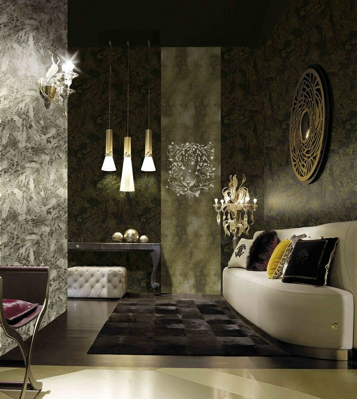 Renowned #Italian #fashion designer, Roberto Cavalli, synonymous with #glamour, #luxury and #beauty has created a unique #style of #wallcoverings. The No.2 Collection adds #elements of #glamour to your #interiors.  #Wallcoverings from Roberto Cavalli, No.2, #Goodrich
