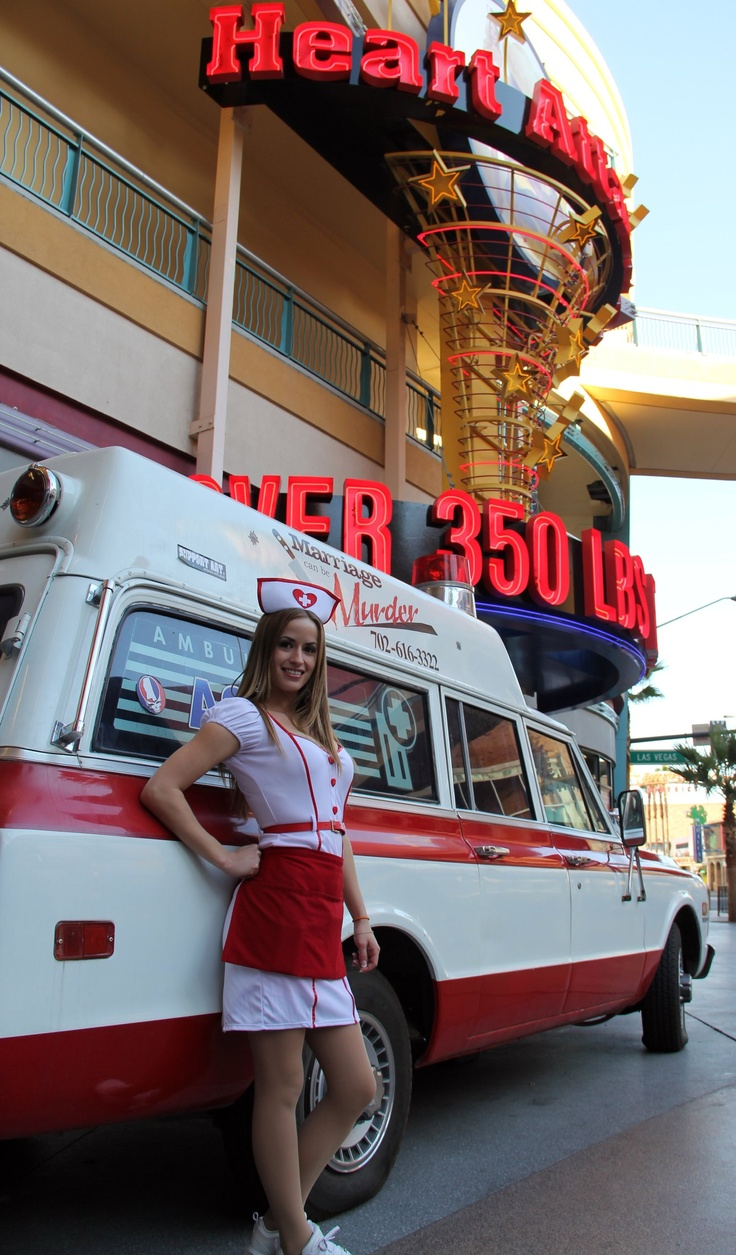 Heart Attack Grill in Las Vegas, Nevada.  Lots of fun and CALORIES!!!