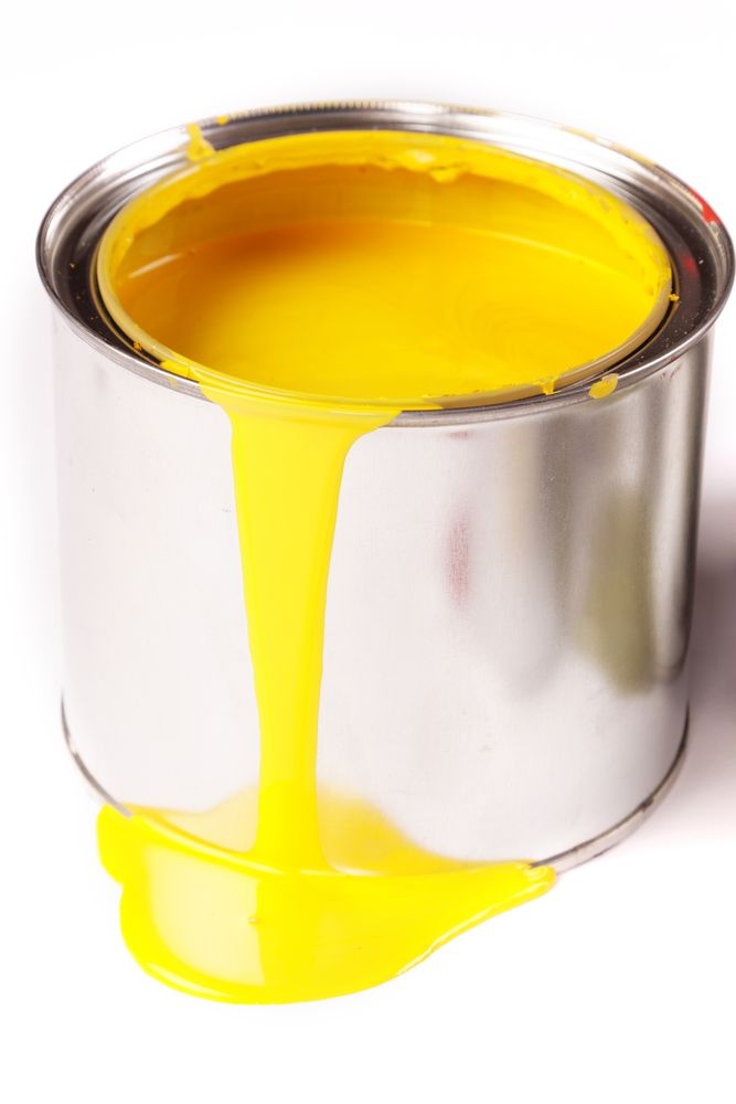 Vibrant yellow paint: use with caution in places which don't have a…