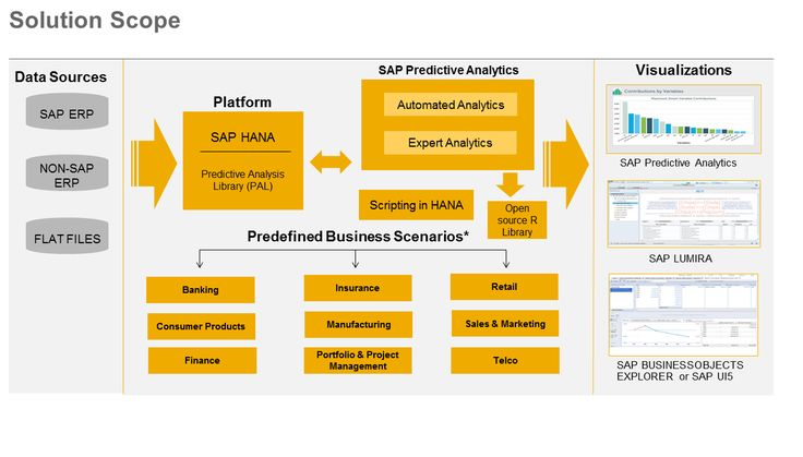 SAP Solution Scope (predictive Analytics ).  SAP Rapid Deployment Solutions – RDS  Here's the fastest way to run your business better: Our rapid-deployment solutions. In one package, you get everything you need to be up and running quickly – including preconfigured software and implementation services – in just weeks. With a defined scope and predictable costs, there are no surprises. And you can expand your solution as you go.