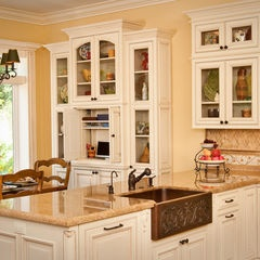 Pin by teri hester on home inspiration pinterest for Butter cream colored kitchen cabinets