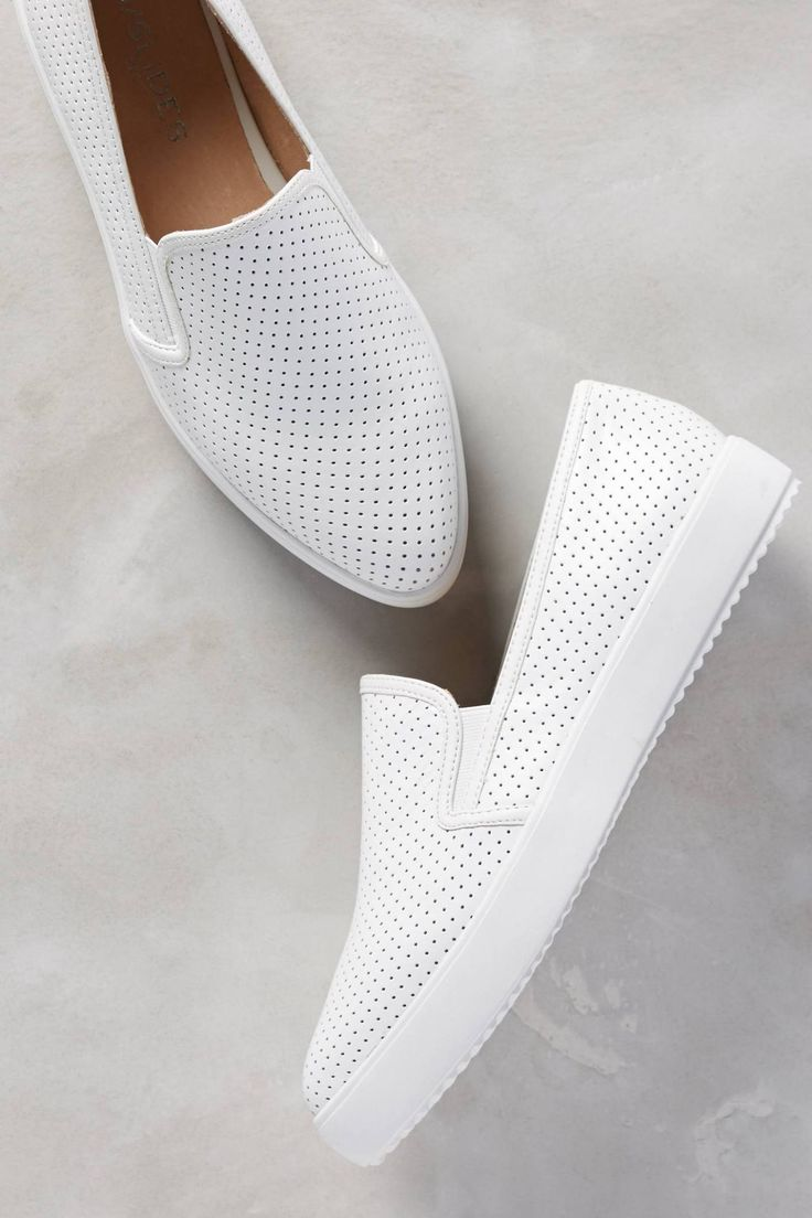 Pilar Perforated Slip-On Sneakers #anthrofave #anthropologie