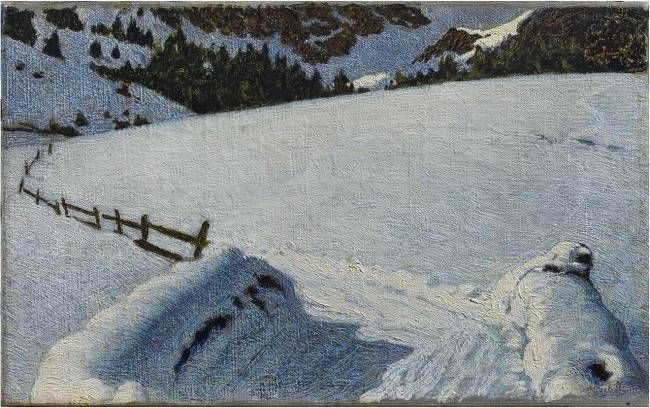 Angelo Morbelli | 1854-1919, Italy | Neve /Snow