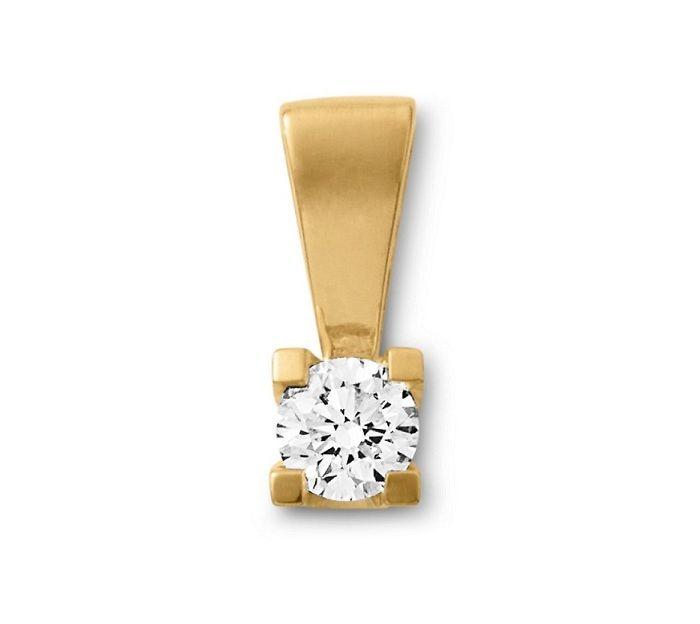 Aagaard klassiker fra Dagmar kollektionen: Et flot 14 karat guld vedhæng med en smuk og funklende diamant. Et utrolig smukt og iøjefaldende vedhæng! #aagaard #jewellery #smykker