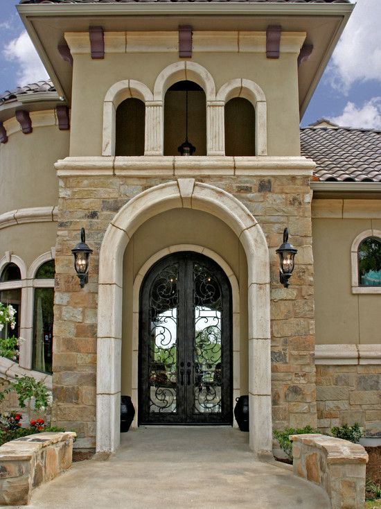 Tuscan Design   Mediterranean   Exterior     By Diamante Custom Homes Like  The Entrance