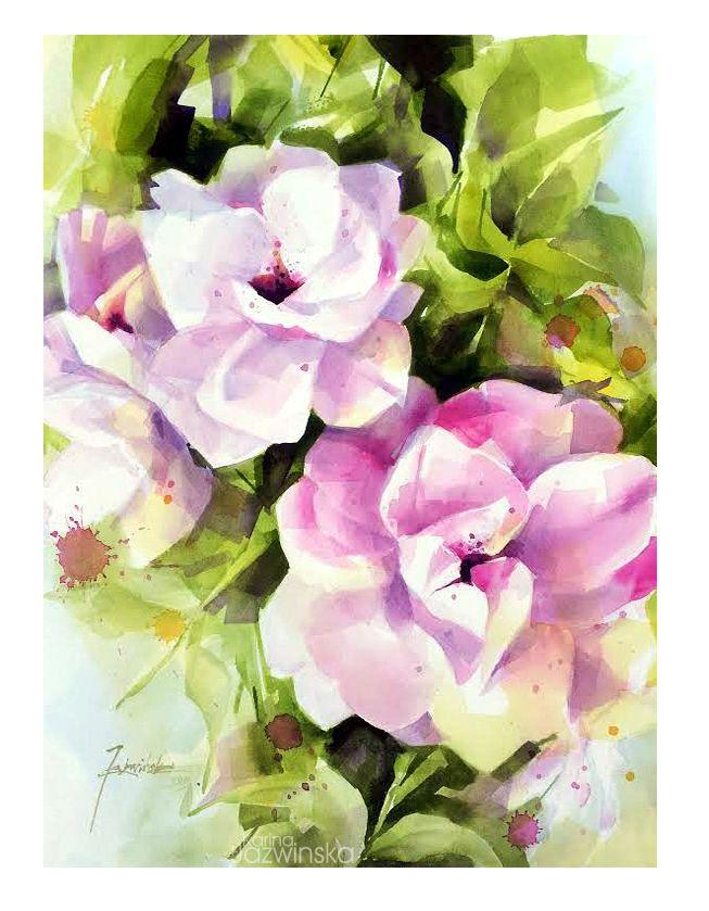 Watercolour/ Rose/ Saunders 300g