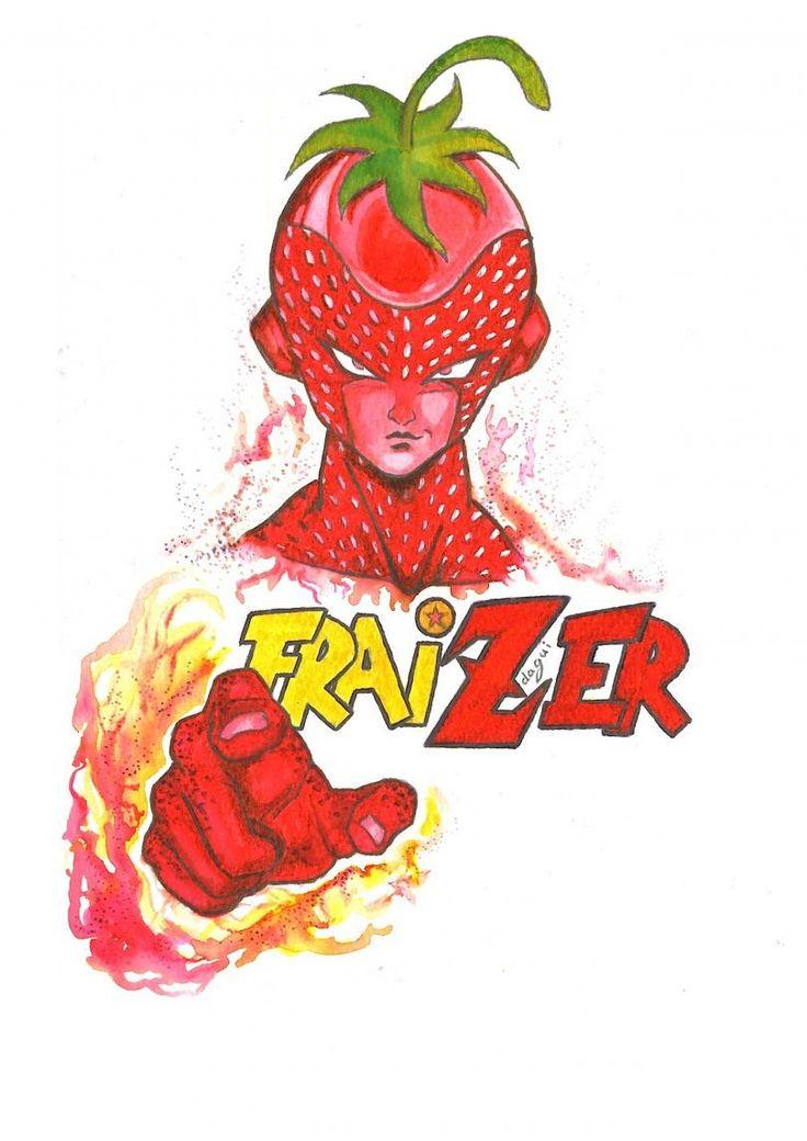 9ème prix : « Fraizer » de Dagui Pierro : Ceci est l'ultime transformation de Freezer. Quand il s'énerve vraiment tout rouge, il devient… Fraizer. Le guerrier de l'apocalypse