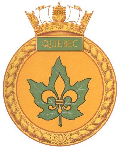 HMCS QUEBEC Badge - The Canadian Navy - ReadyAyeReady.com