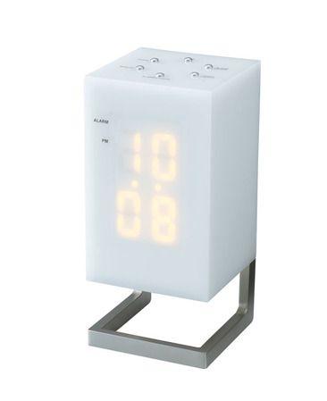 LEDアラームクロック ニーク/シンプル&ポップな置き時計|インテリアハート