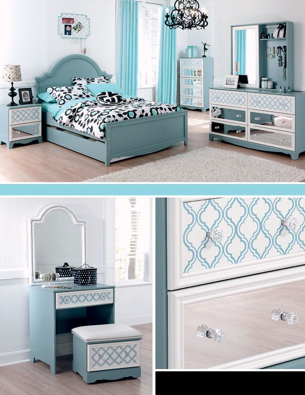Zenfield bedroom bench new girl colors and the o 39 jays for Girls bedroom furniture